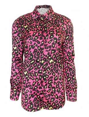 Urban Jungle Leopard Blouse - Pink