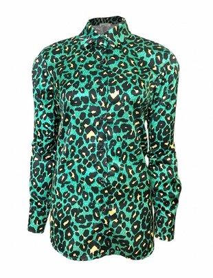 Urban Jungle Leopard Blouse - Green