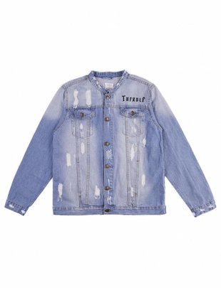 THFKDLF Patch Denim Jacket