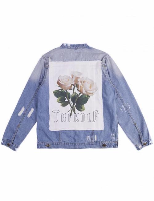 THFKDLF Patch Denim Jacket