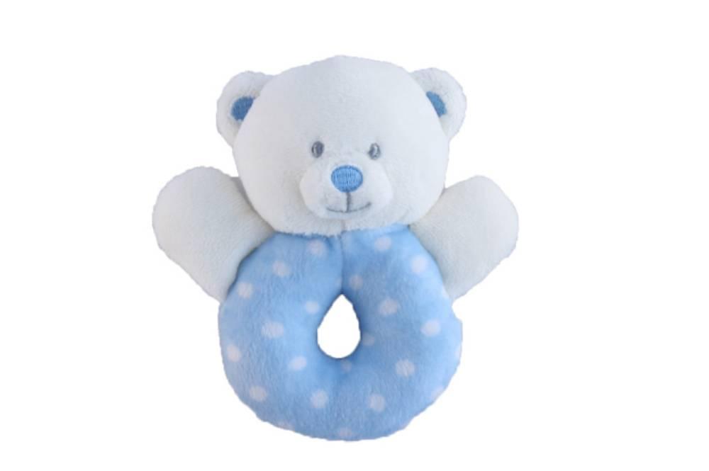 Keel Toys Rammelaar Spotty blauw