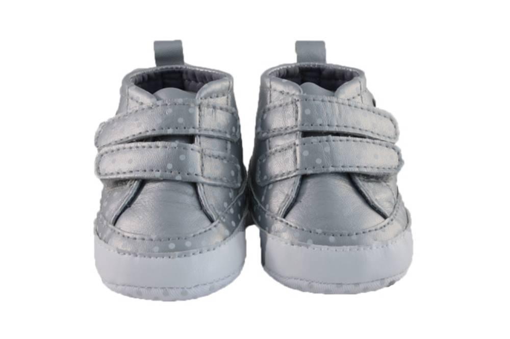 Soft Touch Sneaker Dot Zilver