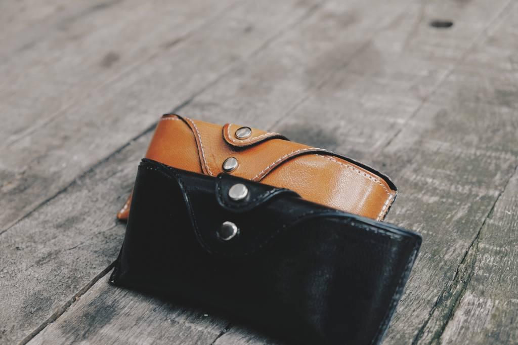 Black & Cognac Leather Cases Set