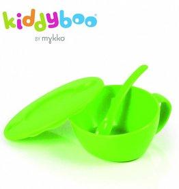 Mykko Kiddyboo eetkommetje met zacht lepeltje lime