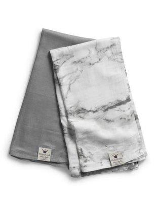 Elodie Details Elodie Details Tetradoeken Set Van 2 Marble Grey