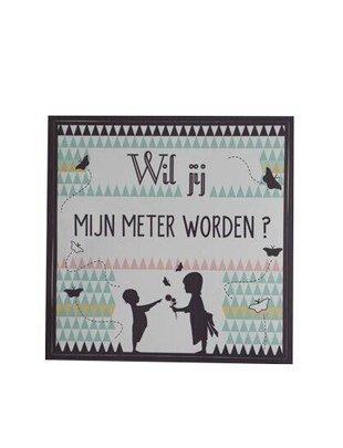 "Minimou Minimou Sticker ""Wil jij Mijn Meter Worden""?"