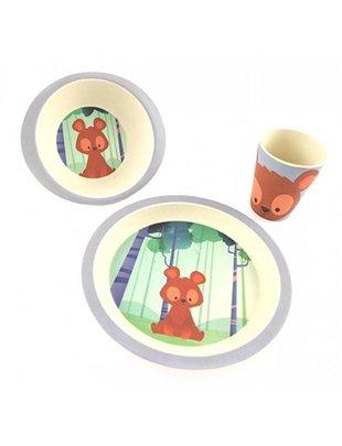 Pure Kids Pure Kids - Dinner Set Bamboo Bear