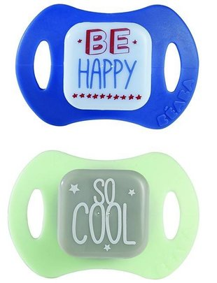 Béaba Beaba Pacifier Set Be Happy - So Cool +6M