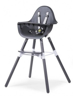 Childhome Childhome Evolu 2 Stoel Anthra/ Antraciet 2 in 1 + Beugel