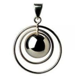 Bola Bola Zwangerschapsbelletje Dubbele Ring Zwart