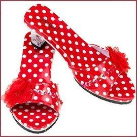 Souza for kids Schoentjes met hakjes Ines rood met witte stippen