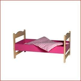 Van Dijk Toys Poppenledikant/bed inclusief dekje