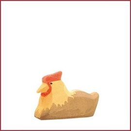 Ostheimer Bruine kip, zittend