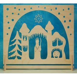 De Noest Staande/raam-decoratie Koning Winter