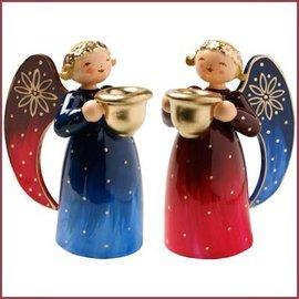 Wendt & Kühn Rijk beschilderde Engeltjes met kaarsenhouders