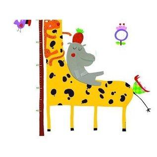 Djeco Muursticker meetlat Giraf