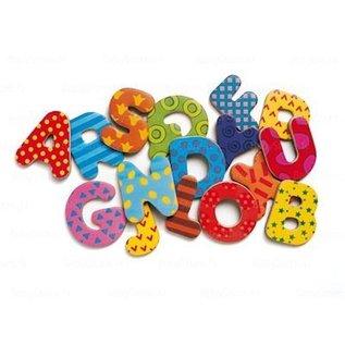 Djeco Houten magneten - Grote versierde letters
