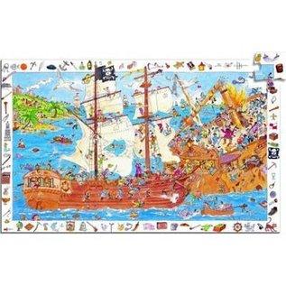 Djeco Observatiepuzzel Piraten 100 stukjes