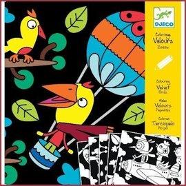 Djeco Viltkleurplaten Vogels