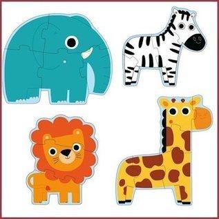 Djeco 4-puzzels In de Jungle