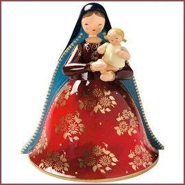 Wendt & Kühn Madonna met Kerstkind, rijk beschilderd