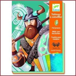 Djeco Knutselset folie plaatjes Vikingen