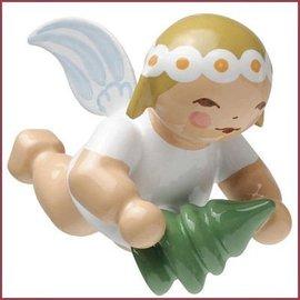 Wendt & Kühn Kleine, zwevende Engel met dennenboom