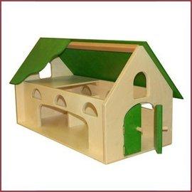 Van Dijk Toys Houten Boerderij - Groen dak