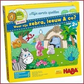 Haba Mijn eerste spel - Waar zijn zebra, leeuw en co?