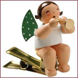 Wendt & Kühn Kerstboomknijpertje Grunhainichense Engel met fluit