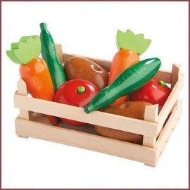 Haba Kratje met houten groente