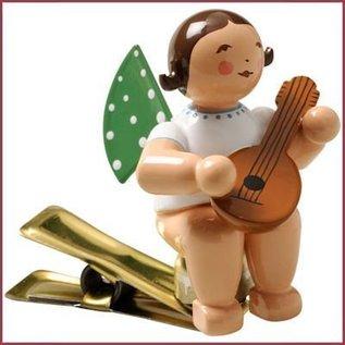 Wendt & Kühn Kerstboomknijpertje Grunhainichense Engel met mandoline