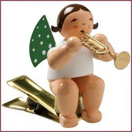 Wendt & Kühn Kerstboomknijpertje Grunhainichense Engel met trompet