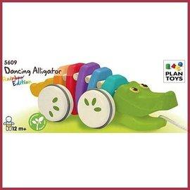 Plantoys Trekdier krokodil regenboog