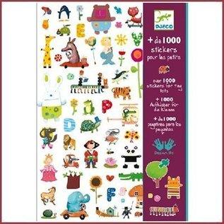 Djeco 1000 stickers voor de kleintjes