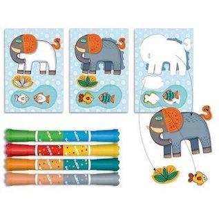 Djeco Kleurset Zoo Zoo, voor de kleintjes