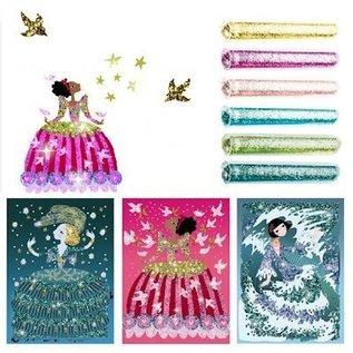Djeco Knutselset Glitterzand Glitterjurken
