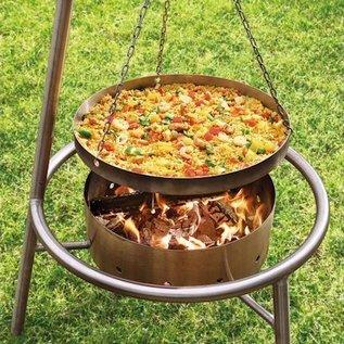 Haba Pan of deksel voor Barbecue en Vuurkorf Set
