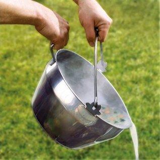 Haba Roestvrijstalen pan voor Barbecue en Vuurkorf Set