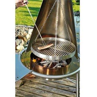 Haba Roestvrijstalen rooster voor Barbecue en Vuurkorf Set