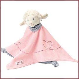 Handdoekknuffel Lammetje Mojo - roze