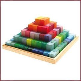 Grimm's Houten blokkenset Pyramide - Groot