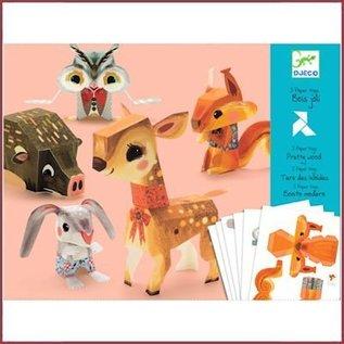 Djeco Knutselset papieren speelgoed: Het mooie bos
