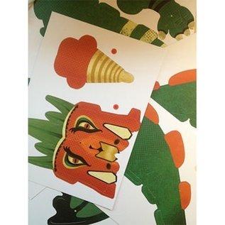 Djeco Knutselset papieren speelgoed: Reuzendraak
