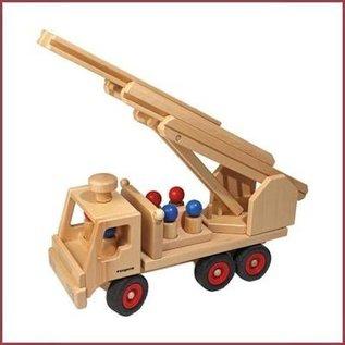 Fagus Bestuurbare houten Brandweerwagen