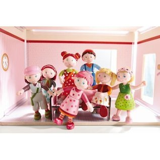 Haba Little Friends buigbaar poppenhuispopje oma Elli