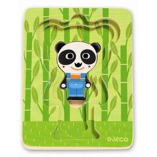 Djeco 3-lagen puzzel Panda