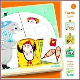 Djeco 3-lagen puzzel Iglo