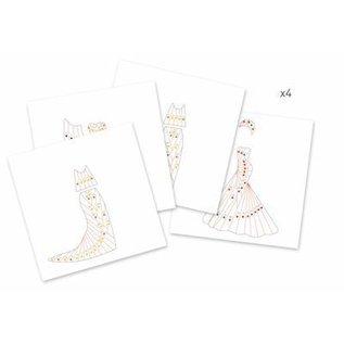 Djeco Knutselset Papier plisse: Art Deco jurken vouwen