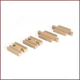 Brio Rail-uitbreidingsset Mini Straight Track pack